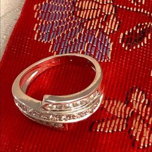 Diamond Bypass Ring, 14K White Gold